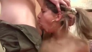 not bad for her first deepthroat