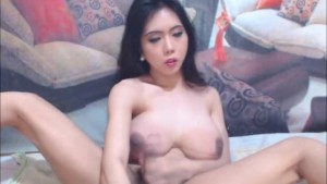 Beautiful Big Tits Shemale Feels Hot and Horny