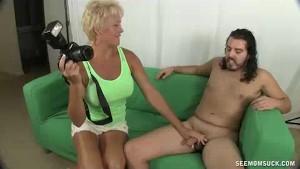Horny Milf Wants To Suck Model s Big Cock
