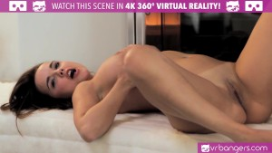 VR Bangers - Grounded Horny Dillion Harper MASTURBATES for Her Boyfriend