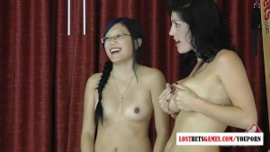 3 innocent teens play a strip game of don t pop the balloon