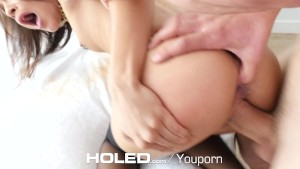 HOLED - Full hardcore anal with petite Holly Hendrix