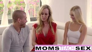 Moms Teach Sex - Big tit step mom catches daughter