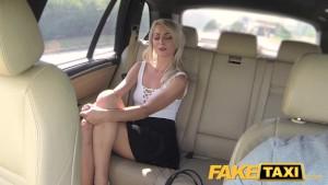 FakeTaxi Short skirt minx rides cock in taxi