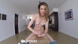 POVD - Petite Kristen Scott shows off her sex skills POV style