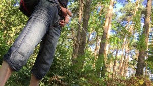 you walk in the woods and sees a boy urinating. What do you do?
