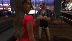 Katia en mini robe moulane rouge collat noire au Sexmotel.mpg