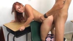 WANKZ - Schoolgirl Slut Rides Her Teacher s Big Dick!