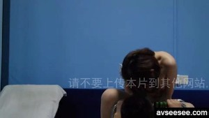 Chinese girlfriend riding my cock and creampie