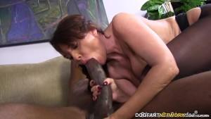 Janet Mason Tries Mandingo s Huge Black Cock