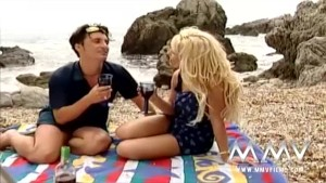 Kelly Trump at a public beach