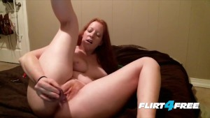 Cute Chubby Redhead Pleases Both Her Willing Holes