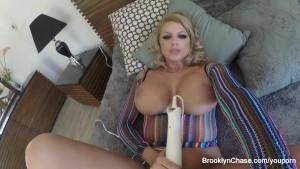 Brooklyn Chase masturbating