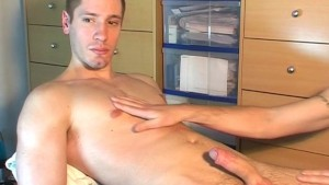 A innocent repair guy serviced his big cock by a guy!