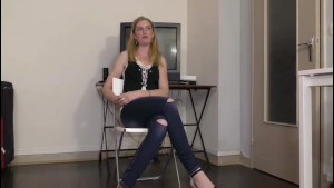 Betty a pretty blonde amateur gets screwed in her first casting