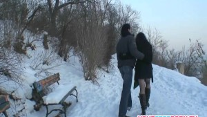 Horny couple fucking on the beach in public .mp4