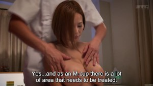 Subtitled Japanese AV star Ruri Saijou CMNF breast massage