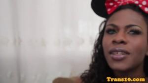 Black brazilian ts interviewed before scene