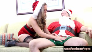 Fake Santa Gets His Cock Sucked by Carmen Valentina