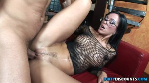 Ass riding babe swallows