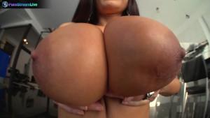 Busty milf Lisa Ann in stockings always a fan of huge cocks