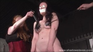 Cruel nipple torments and lesbian bdsm of slave Caroline Pierce in whipping and domination