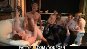 Chubby party girl have fun sucking and fucking