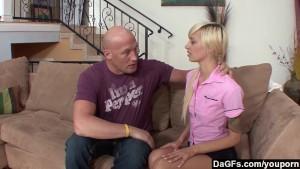 Dagfs - Emma Mae bends-over and gets a massive dick up her slit