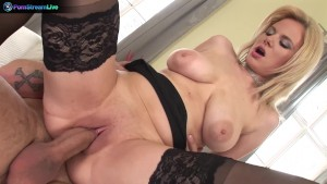 Busty blonde Tammy & David Perry hot tit fucking