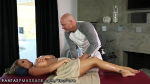 FantasyMassage Busty MILF Can t Ignore His Advances