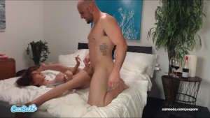 jmac gets blowjob anal and doggie from real doll before cumming in her ass