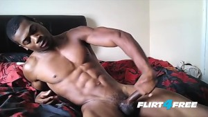 Muscular Ebony Hunk Flexes His Hot Body and BBC