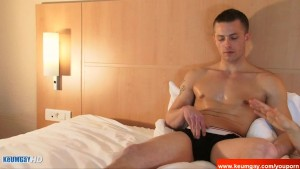 Pattrick, innocent delivery str8 guy serviced his big cock by a guy!