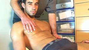 Ludo, innocent delivery guy serviced by a guy!