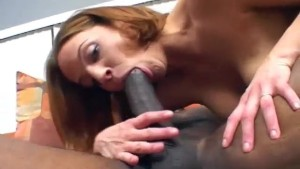 dirty redhead bitch with hot creamy pussy interracial sex