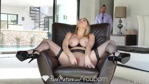 PUREMATURE Mature housewife Kagney Linn Karter welcome home fuck