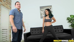 Reality Kings - Arias shows off her hot yoga pussy