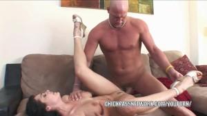 Horny slut Beverly Hills rides a cock and gets a big facial
