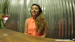 Uber cute Latina gets intervie