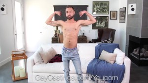 GayCastings - Newcomer Carson Cruise gets tight ass fucked by agent