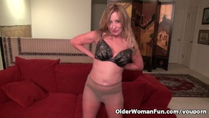 Sexy milf Sally Steel shares her succulent pussy with us