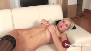 6-movies.com - Blonde girl enjoy herself at home -