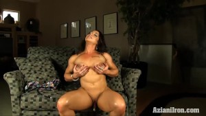 Sexy fitness model pussy pumps her clit till its big and hard