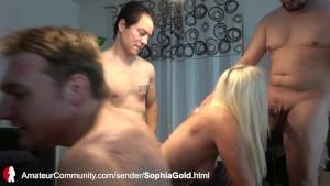 Stichwahl - drei Ficker und ein deutsches Luder auf Spermafang