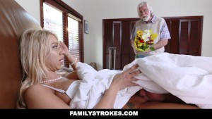 FamilyStrokes - Hot Step Mom Fucked By Son Under The Covers