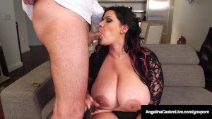 Cuba s Angelina Castro Gives a BlowJob & Has Threesome Sex!!