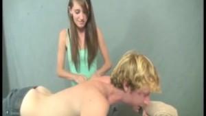 Naughty girl handjob