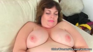 UK s cutest BBW milf Vintage Fox is a proper housewife