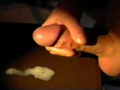 Jerking off my fat cock