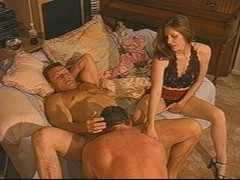 Wife loves to watch her husband fuck a man